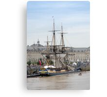 French Fregate Hermione replica Canvas Print