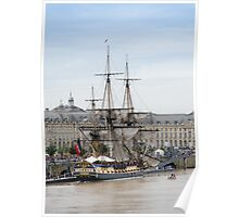 French Fregate Hermione replica Poster