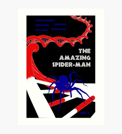 Amazing Spider-Man Pulp Poster Art Print