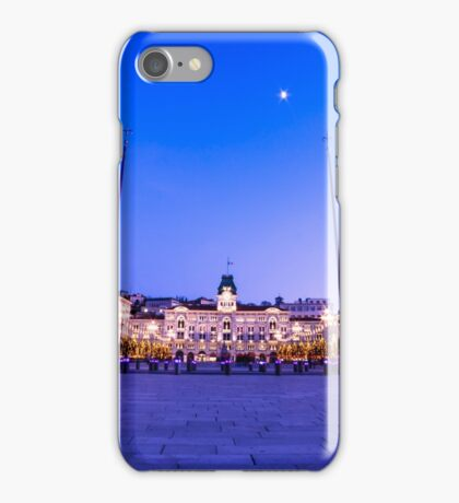 The square of Trieste during Christmas time iPhone Case/Skin