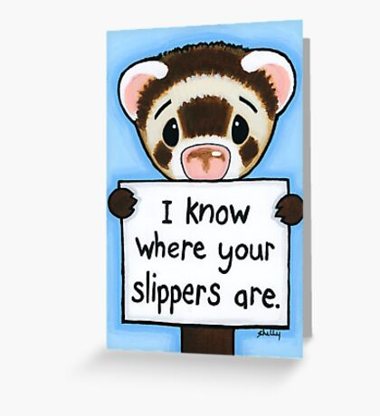 Ferret Notes 1 Greeting Card