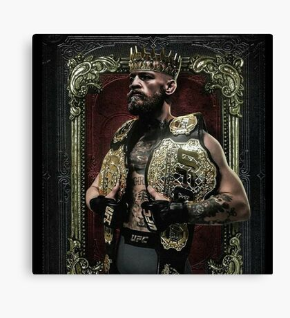 Conor mcgregor the king of UFC Canvas Print