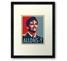 ALLONS-Y Framed Print