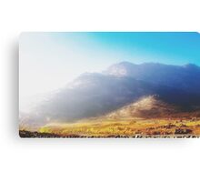 mountain with strong summer sunlight and blue sky Canvas Print