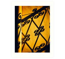 Gutter and ornate shadows Art Print