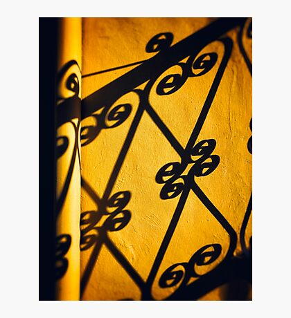 Gutter and ornate shadows Photographic Print