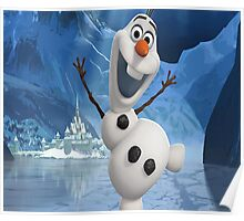 Olaf from Frozen Poster