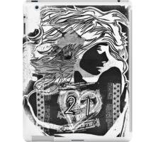 Graffiti stencil + collage rockets candy girl iPad Case/Skin