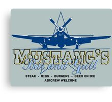 Mustang's Bar and Grill Canvas Print