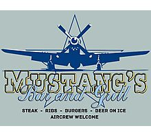 Mustang's Bar and Grill Photographic Print