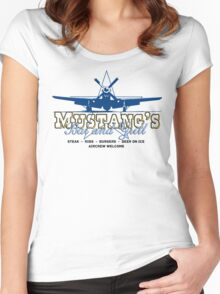 Mustang's Bar and Grill Women's Fitted Scoop T-Shirt