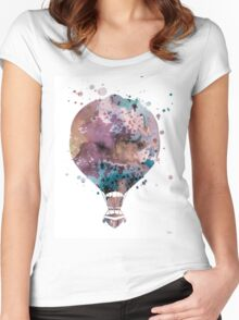 Hot Air Balloon 2 Women's Fitted Scoop T-Shirt