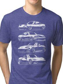 Generations. Mazda MX5 Miata Tri-blend T-Shirt