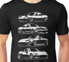 Generations. Mazda MX5 Miata Unisex T-Shirt