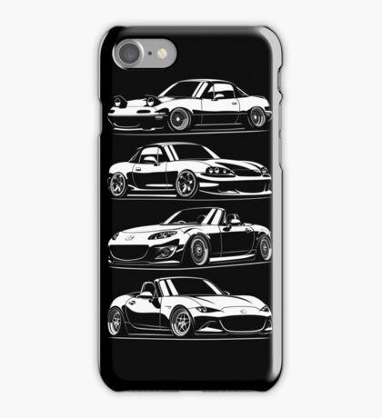 Generations. Mazda MX5 Miata iPhone Case/Skin