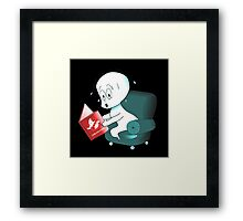 The Most Disturbing Book For Spirits Framed Print
