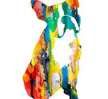 Boston Terrier 3 by Watercolorsart