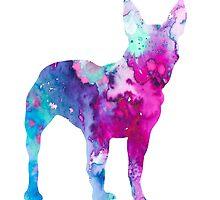 Boston Terrier 4 by Watercolorsart