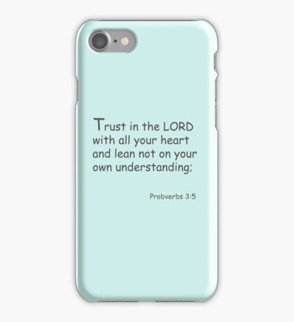 Trust in the Lord iPhone Case/Skin