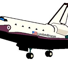 Unites States Space Shuttle by kwg2200