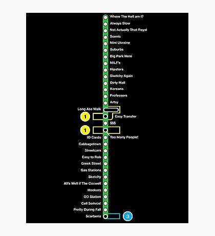Line 2 Parody Map Photographic Print