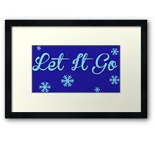 Let It Go, Frozen Framed Print
