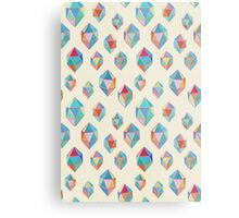 Floating Gems - a pattern of painted polygonal shapes Metal Print