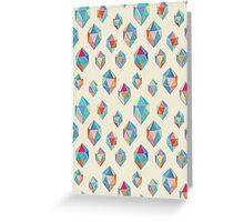 Floating Gems - a pattern of painted polygonal shapes Greeting Card
