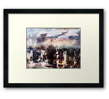Somnolent City V Framed Print