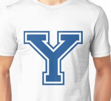 College letter Y in blue Unisex T-Shirt