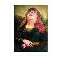 peter griffin as mona lisa Art Print