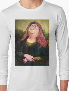 peter griffin as mona lisa Long Sleeve T-Shirt