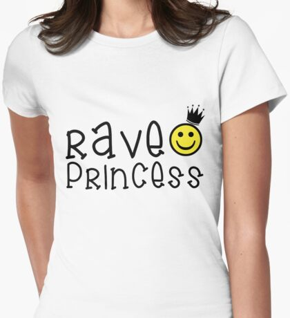 rave princess, raver, rave, princess, smiley Womens Fitted T-Shirt
