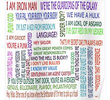 Superhero quotes Poster