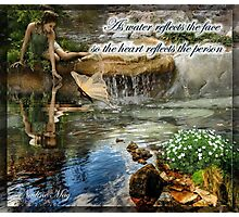As the water reflects the face Photographic Print