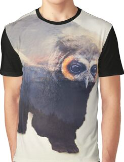 Owlbear in Mountains Graphic T-Shirt