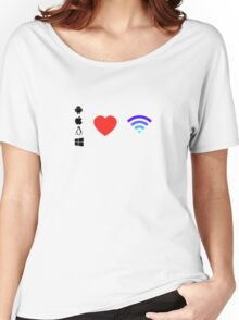 OS Love Wifi color Women's Relaxed Fit T-Shirt