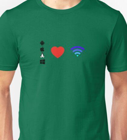 OS Love Wifi color Unisex T-Shirt