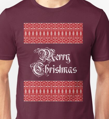 Merry Knitted Christmas ! Unisex T-Shirt