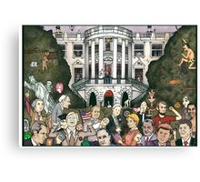 Us presidents at the white house Canvas Print