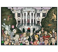 Us presidents at the white house Photographic Print
