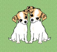 Cute Chihuahua Puppies Art by LeahG by Cartoonistlg