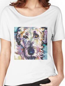 Irish Wolfhound Dog Bright colorful pop dog art Women's Relaxed Fit T-Shirt