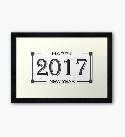 Happy New Year 2017 Framed Print