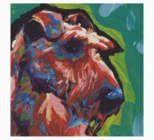 Irish Terrier Dog Bright colorful pop dog art T-Shirt