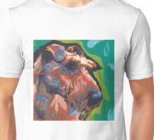 Irish Terrier Dog Bright colorful pop dog art Unisex T-Shirt