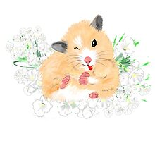 Funny Furry Golden Syrian Hamster by LeahG by Cartoonistlg