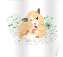 Cute Syrian Hamster Honey Poster