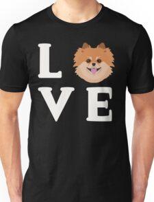Love Pomeranians - Pom Pom Dog Puppy Face  Unisex T-Shirt