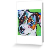 Jack Russell Terrier Dog Bright colorful pop dog art Greeting Card